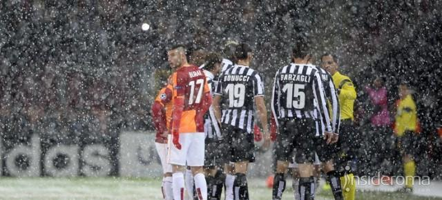 Ancora neve su Istanbul, Galatasaray-Juventus si gioca alle ore 14
