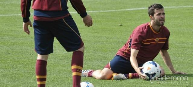 TRIGORIA - Rifinitura in vista della Juventus. Assente Maicon. Partitella tattica. Out De Sanctis