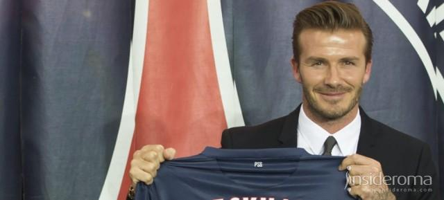 L'As Roma rende omaggio a Davide Beckham