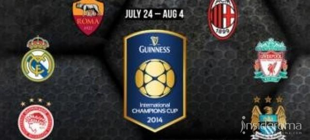 Guinness Cup 2014: stanotte Inter-Manchester United e Roma-Real Madrid