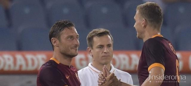 Dzeko-Totti. La Roma ha due re da scudetto