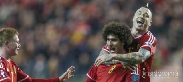 Nainggolan e Fellaini: l'incrocio è tutto belga